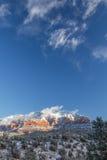 Regione selvaggia di montagna segreta della roccia rossa che segue una notte nevosa, Sedona Immagini Stock Libere da Diritti