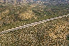 Regione selvaggia vuota Asphalt Road di California Immagini Stock Libere da Diritti