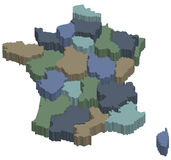 Regionen 3d von Frankreich Lizenzfreies Stockbild