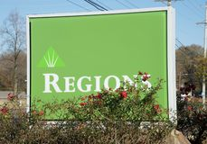 Regions Bank Sign Stock Image