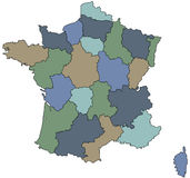 Regions of france Stock Photo