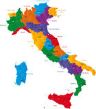 Regions of Italy Stock Image