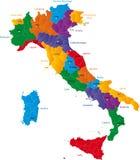 Regions of Italy Stock Image