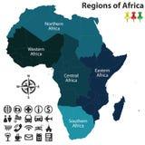 Regiony Afryka Fotografia Stock