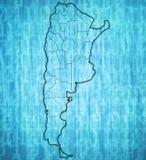 Regiony Argentina na mapie Fotografia Stock