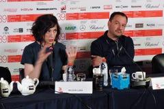 Regista Lana Wilson al trentanovesimo festival cinematografico dell'internazionale di Mosca Fotografie Stock