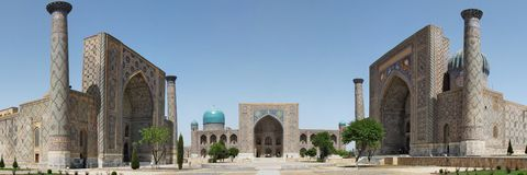 Registan广场 免版税库存照片