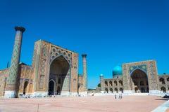 Registan τετραγωνικό †«το διασημότερο κεντρικό τετράγωνο της πόλης ο στοκ εικόνα με δικαίωμα ελεύθερης χρήσης