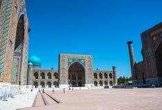 Registan τετραγωνικό †«το διασημότερο κεντρικό τετράγωνο της πόλης ο στοκ φωτογραφία με δικαίωμα ελεύθερης χρήσης