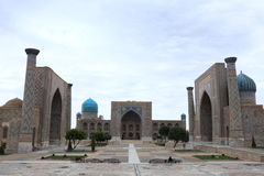 Registan and its three madrasahs in Samarkand Royalty Free Stock Photos