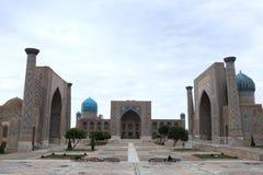 Registan and its three madrasahs in Samarkand royalty free stock photos