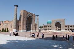 Registan in Samarkand royalty-vrije stock afbeeldingen