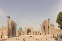 Registan in Samarkand Stockfotos