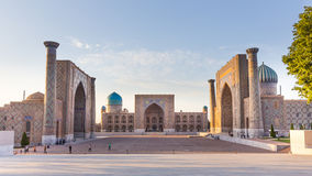 The Registan in Samarkand, Uzbekistan Royalty Free Stock Image