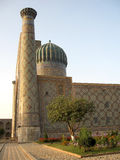 Registan Sher-Dor Madrasah at sunset 2007 Stock Images