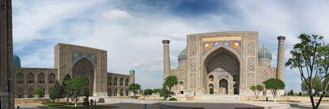 Registan square Royalty Free Stock Images