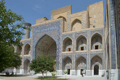 The Registan square in the center of Samarkand. Samarkand, Uzbekistan - June 03, 2014: the Registan square in the center of Samarkand. Samarkand square is the Royalty Free Stock Photos