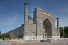 The Registan square in the center of Samarkand. Samarkand, Uzbekistan - June 03, 2014: the Registan square in the center of Samarkand. Samarkand square is the Royalty Free Stock Photo