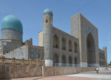 The Registan square in the center of Samarkand. Samarkand, Uzbekistan - June 03, 2014: the Registan square in the center of Samarkand. Samarkand square is the Royalty Free Stock Image