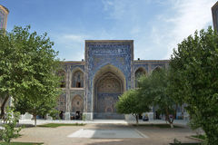 The Registan square in the center of Samarkand. Samarkand, Uzbekistan - June 03, 2014: the Registan square in the center of Samarkand. Samarkand square is the Stock Photo