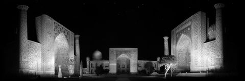 Registan square night view Stock Photography
