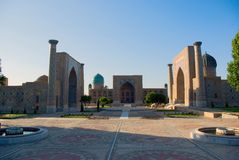 Registan Square. Samarkand Stock Photo