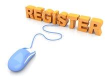 Register. 3D rendered Illustration Stock Images