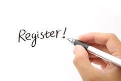 Register! lizenzfreies stockbild