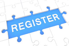 register Arkivfoton