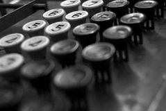 Register. Old fashion button cash register Royalty Free Stock Photos