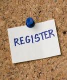 register Stockfoto