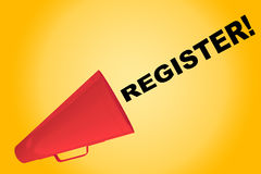 Register! - abonnementsconcept Stock Foto's