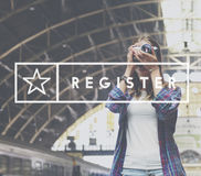 Register Application Apply Enter Membership Concept. Register Application Apply Enter Membership Royalty Free Stock Photos