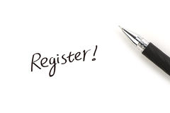 Register! Royalty Free Stock Image