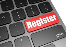 Register with black keyboard Royalty Free Stock Image