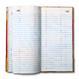 Register Book For The Old Accounts Open Two Pages Royalty Free Stock Photo