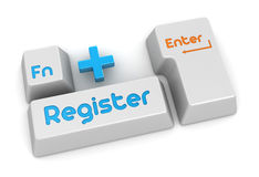 Register button Stock Photography