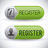 Register button design Royalty Free Stock Photo