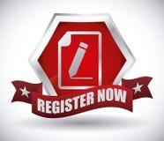 Register button design Stock Photo