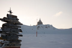 Register & church in Antarctic. Winter register & church in Antarctic stock photos