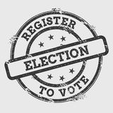 Register Election to Vote rubber stamp isolated. Royalty Free Stock Photo