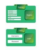 Register en login malplaatje Royalty-vrije Stock Fotografie