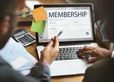 Register Enquiry Online Web Page Concept Stock Photos