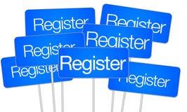 Register für Social Media-Knöpfe Lizenzfreie Stockbilder