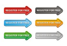 Register for free buttons Stock Photo