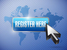 Register here button and cursor Stock Photos