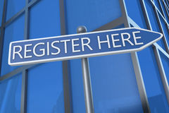 Register here Stock Photos