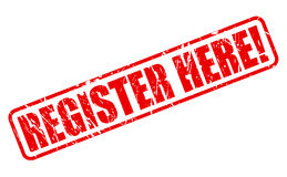 Register here red stamp text Stock Photo