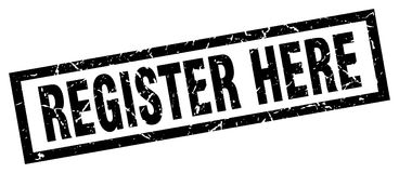 Register here stamp Royalty Free Stock Photography