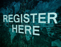 Register here Royalty Free Stock Image
